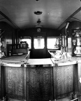 Buffet counter of Diesel Railcar No 2, 1934