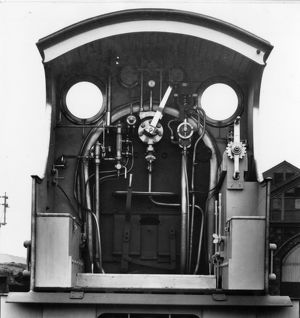 Cab of No 3252 Duke of Cornwall