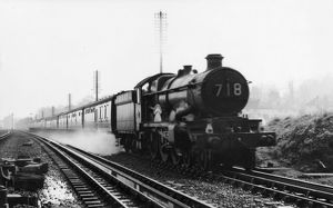 Castle Class Locomotive No. 5040, Stokesay Castle, April 1959