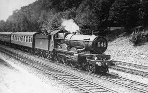 Castle Class locomotive, No. 5094, Tretower Castle at Sonning, c1950s