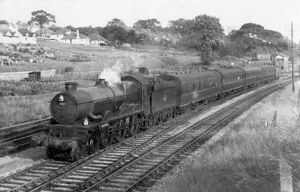 Castle Class locomotive No. 7022, Hereford Castle at Aller Junction, c.1960