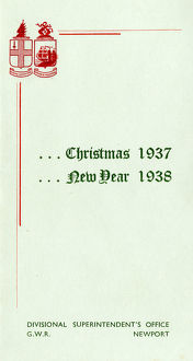Christmas card from Newport Superintendent's Office, 1937