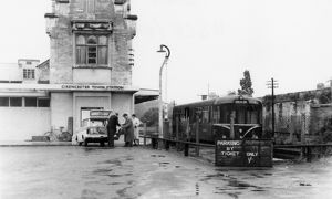 Cirencester Town Station forecourt, c.1960