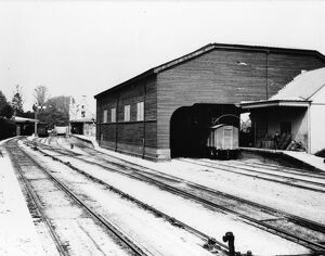 Cirencester Town Station and Goods Shed, c1930s