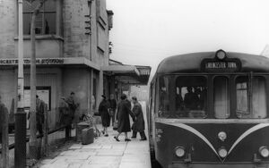 Cirencester Town Station and Railbus (W799xx), c.1960
