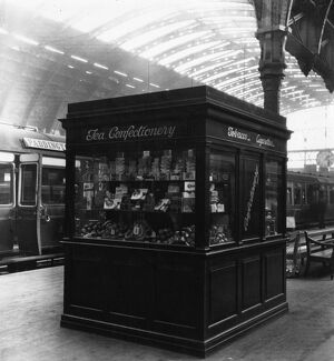 Confectionary Stand on Paddington Station, 1923