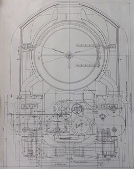 Design drawing for the King Class locomotive, 1927