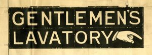 Design for Gentlemen's Lavatory sign at Paddington Station
