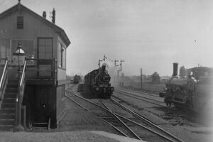 stations halts/oxfordshire stations didcot station surrounds/didcot 11th may 1896