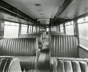Diesel Railcar No. 1 - interior view