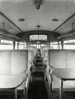 Diesel Railcar No.2 - interior view