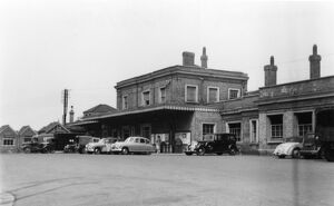 Exterior of Taunton Station, c.1950s