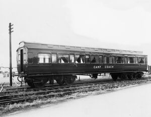 Exterior view of Camp Coach No. W9902