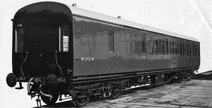 External view of non corridor brake third no.2721, 1952