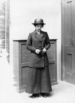 Female Ticket Collector, c1918