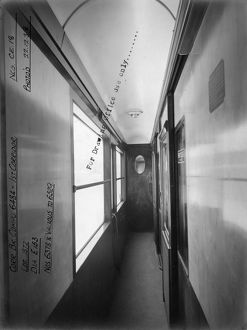 First class corridor of brake composite carriage No. 6484