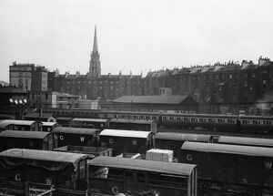 Goods wagons on the approach to Paddington Station, 1930