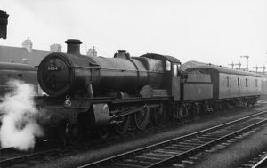 Grange Class locomotive, no. 6864, Dymock Grange at Oxford, 1958