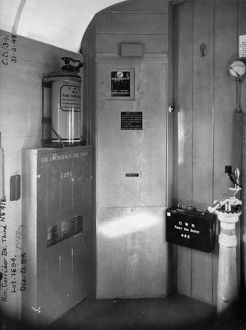 Guards Compartment of non corridor brake third van No.416, 1948