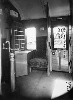 Guards Van on non corridor third brake van no.416, 1948