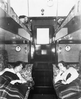 Third class sleeper carriage with bunks, c.1930s