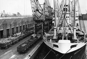 GWR Docks Cardiff - Queen Alexandra Dock, 1960