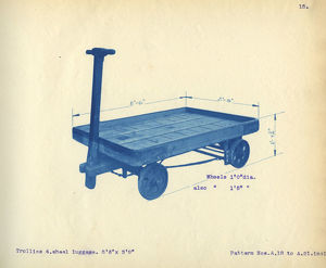 artwork documents/maps plans/gwr luggage trolley