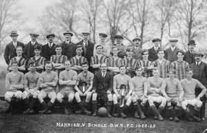 GWR Married & Single Football Teams, 1922-1923