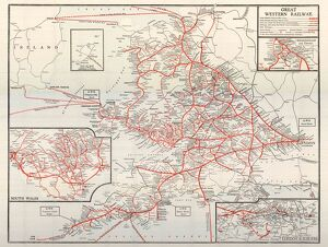 GWR Network Map, c1920s