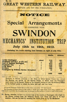 A booklet of information about Trip arrangements in 1912