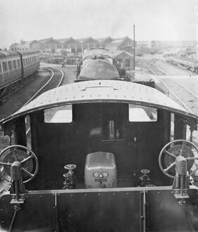 Weedkilling Train - view of cab and oil tanker