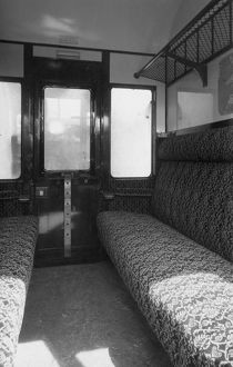 Interior of a Third Class compartment of a Brake Composite Coach, No. 7081