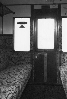 Interior of a First Class compartment of a Brake Composite Coach, No. 7389