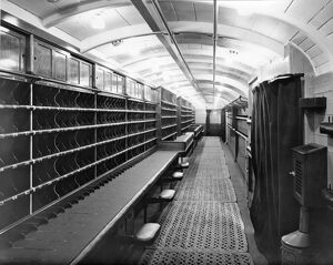 Interior of Post Office Sorting Van, 1937