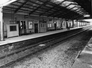 Internal view of Frome Station, c1970
