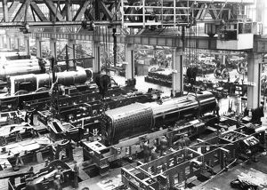 King Class engines under construction at Swindon Works, 1927