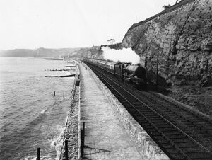 King Class locomotive at Dawlish, 1933