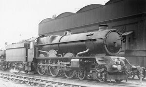 King Class locomotive, No. 6028, King Henry II at Old Oak Common, c.1935