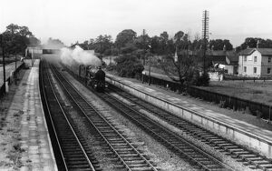 Locomotive No. 5051, Earl Bathurst, passing through Shrivenham Station, September 1958