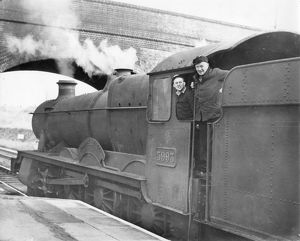 Locomotive No. 5993, Kirby Hall. With Driver Simms and Fireman Evans