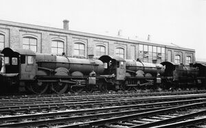 Locomotives awaiting to be scrapped at Swindon Works, 1962