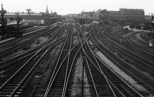 Looking west from Swindon Junction Station, 1950