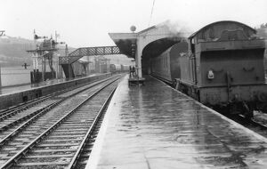 Maiden Newton Station, c.1950s