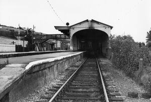 Maiden Newton Station, c.1960