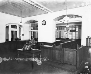 Mechanics' Institute Library Entrance c.1930s
