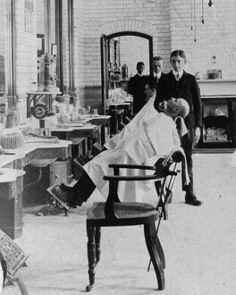 Medical Fund Hairdressing Room, Milton Road, c1910