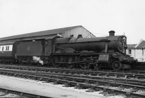 Modified Hall class, 4-6-0, No. 7903 Foremarke Hall at Bath Spa, 1960s