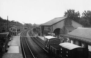 stations halts/gloucestershire stations newnham station/newnham severn station goods shed c1910