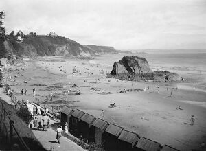 Tenby North Beach, looking north, 1936