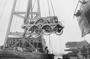 North Star being craned, 1927